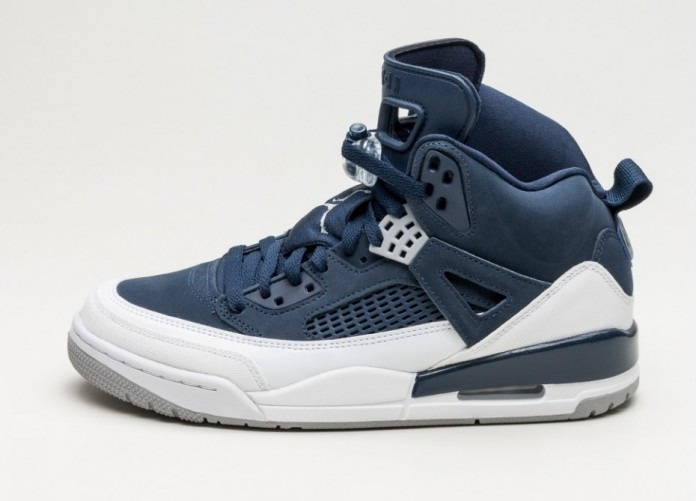 Мужские кроссовки Nike Air Jordan Spizike (Midnight Navy / Metallic Silver - White) | Интернет-магазин Sole