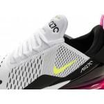 Кроссовки Nike Air Max 270 (White / Volt - Black - Laser Fuchsia), фото 4 | Интернет-магазин Sole