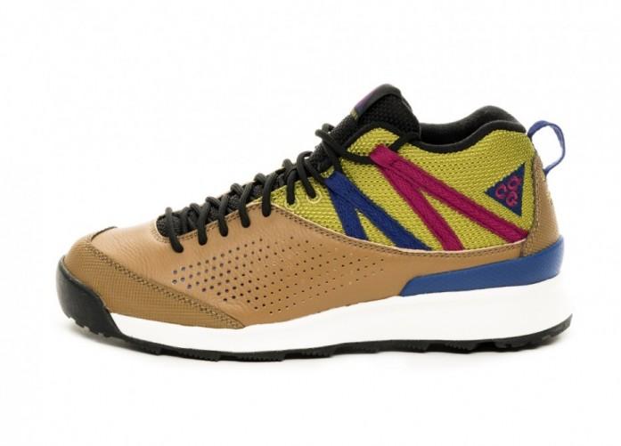 Кроссовки Nike ACG Okwahn II (Golden Beige / Deep Royal Blue - True Berry) | Интернет-магазин Sole
