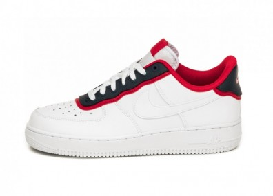 Кроссовки Nike Air Force 1 ´07 LV8 1 (White / White - Obsidian - University Red)