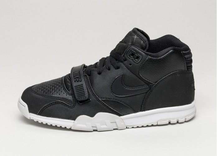 Мужские кроссовки Nike Air Trainer 1 Mid (Black / Black - White) | Интернет-магазин Sole