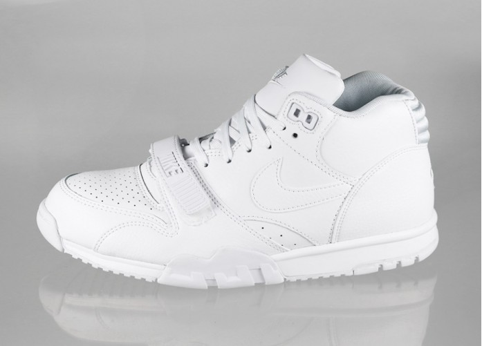 Мужские кроссовки Nike Air Trainer 1 Mid (White / White - Pure Platinum) | Интернет-магазин Sole
