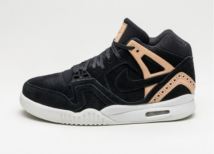 Мужские кроссовки Nike Air Tech Challenge II (Black / Black - Vachetta Tan - Summit White) | Интернет-магазин Sole