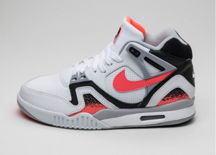 Мужские кроссовки Nike Air Tech Challenge II (White / Hot Lava - Black - Flat Silver) | Интернет-магазин Sole
