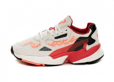 Кроссовки adidas x Fiorucci Falcon W (Off White / Red / Neon Solar Orange / Black)