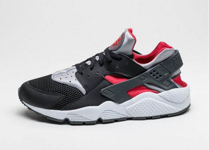 Мужские кроссовки Nike Air Huarache (Black / Wolf Grey - University Red) | Интернет-магазин Sole