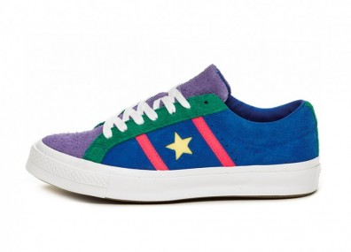 Кеды Converse One Star Academy OX (Totally Blue / Racer Pink / White)