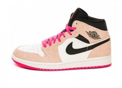 Кроссовки Nike Air Jordan 1 Mid SE (Crimson Tint / Hyper Pink - Black - Sail)