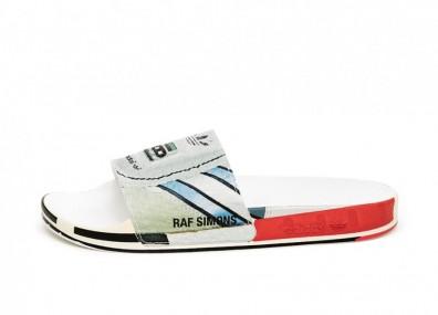 Тапочки adidas x Raf Simons Micro Adilette (Silver Metallic / Bright Red / Bright Red)