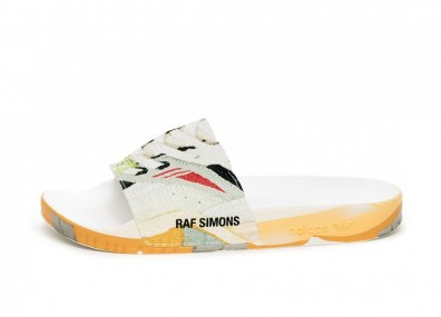 Тапочки adidas x Raf Simons Torsion Adilette (Ftwr White / Core Black / Light Grey)