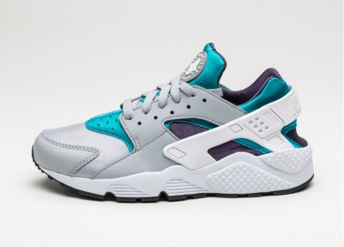 Мужские кроссовки Nike Air Huarache (Wolf Grey / White - Aquatone - Purple Dynasty) | Интернет-магазин Sole