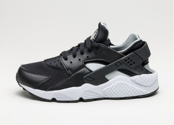 Мужские кроссовки Nike Air Huarache (Black / Flat Silver - White) | Интернет-магазин Sole
