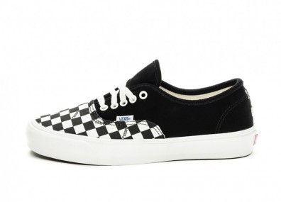 Кеды Vans Vault OG Authentic LX *Suede/Canvas* (Black / Checkerboard)