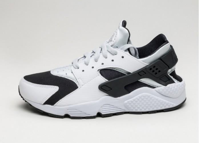 Мужские кроссовки Nike Air Huarache (White / Pure Platinum - Pure Platinum - Black) | Интернет-магазин Sole