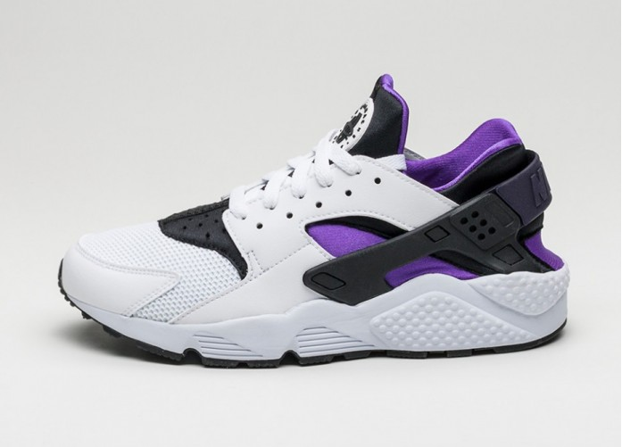 Мужские кроссовки Nike Air Huarache (White / Hyper Grape - Black - Purple Dynasty) | Интернет-магазин Sole