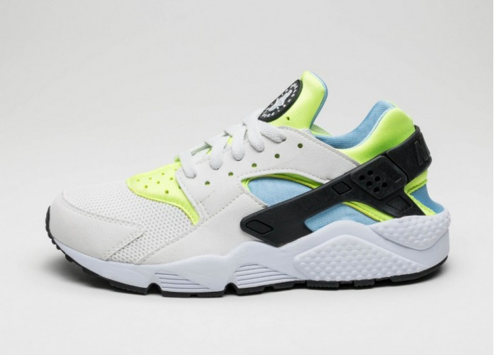 Мужские кроссовки Nike Air Huarache (Off White / Barely Volt - Volt - Bluecap) | Интернет-магазин Sole
