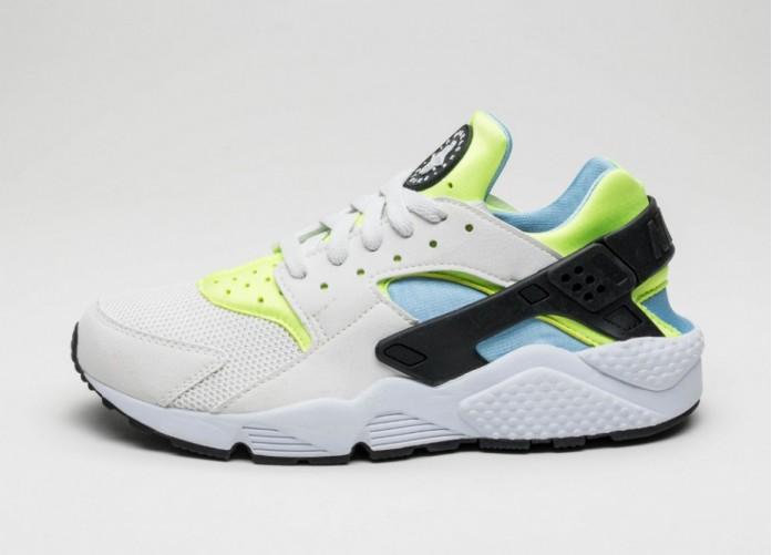Мужские кроссовки Nike Air Huarache (Off White / Barely Volt - Volt - Bluecap) | Интернет-магазин Sole