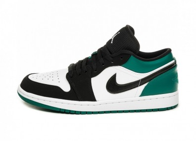 Кроссовки Nike Air Jordan 1 Low (White / Black - Mystic Green)