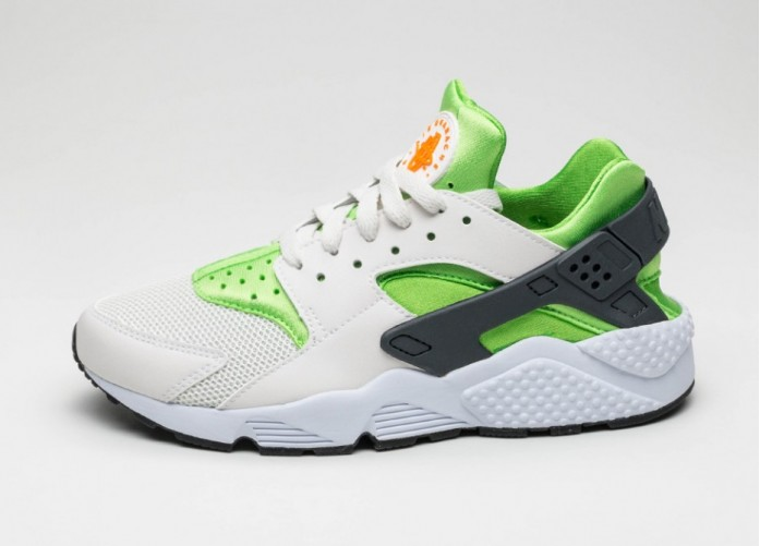 Мужские кроссовки Nike Air Huarache (Action Green / Vivid Orange - Phantom - White) | Интернет-магазин Sole