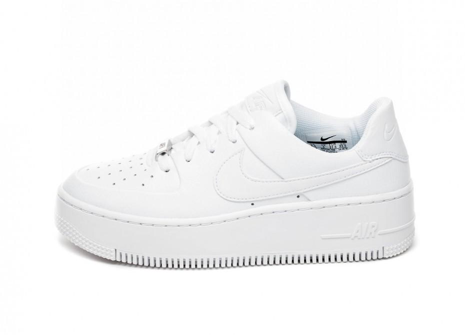 b43b6173 Кроссовки Nike Wmns Air Force 1 Sage Low (White / White - White ...