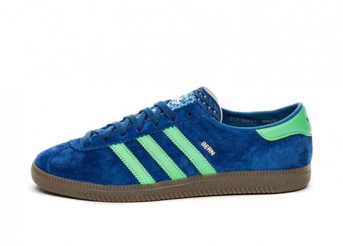 Кроссовки adidas Bern (Supplier Colour / Semi Flash Lime / Bluebird) | Интернет-магазин Sole
