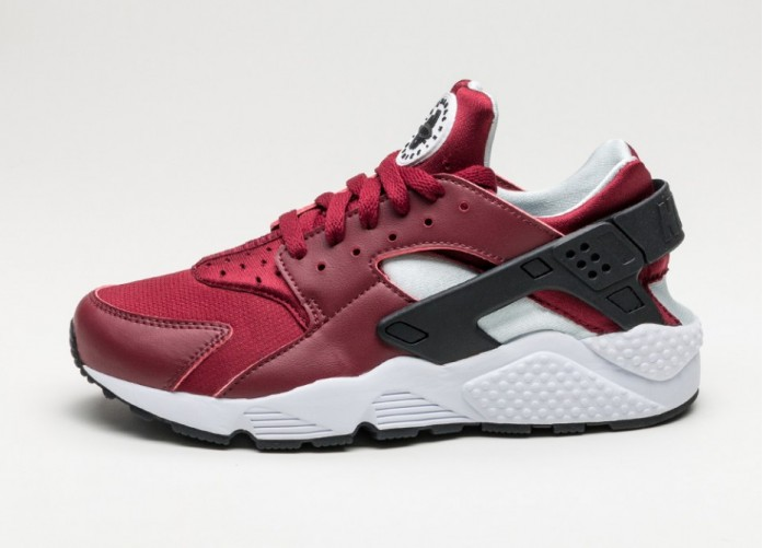 Мужские кроссовки Nike Air Huarache (Team Red / Black - Pure Platinum - White) | Интернет-магазин Sole