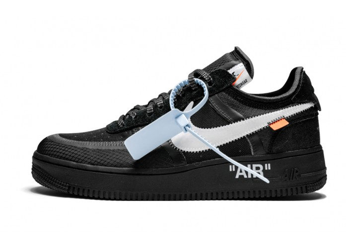 Кроссовки Off-White x Nike Air Force 1 Low - Black / White   Интернет-магазин Sole