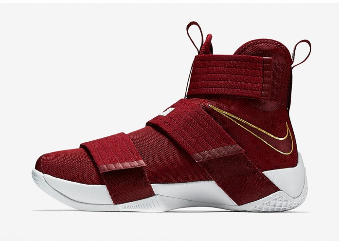 Кроссовки Nike LeBron Soldier 10 - Team Red/Team Red-Metallic Gold-Off White | Интернет-магазин Sole