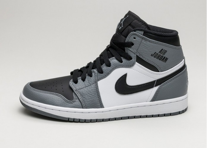 Мужские кроссовки Nike Air Jordan 1 Retro High (Cool Grey / Black - White) | Интернет-магазин Sole