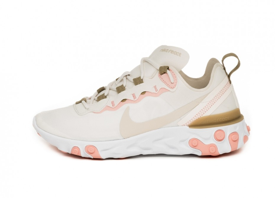 6a4514d7 Новое Кроссовки Nike Wmns React Element 55 (Phantom / Light Orewood Brown -  Parachute Beige)