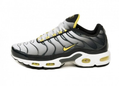 Кроссовки Nike Air Max Plus (Anthracite / Opti Yellow - White)
