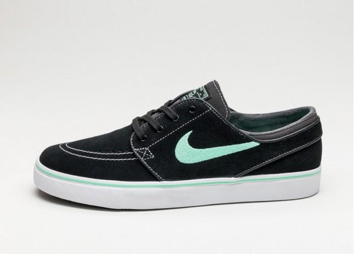 Мужские кроссовки Nike SB Zoom Stefan Janoski (Black / Green Glow - Anthracite - White) | Интернет-магазин Sole
