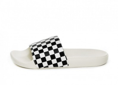 Тапочки Vans Slide-On *Checkerboard* (White / Black)