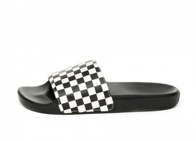 Тапочки Vans Slide-On *Checkerboard* (White)