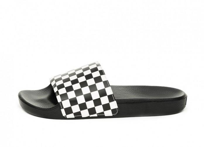 Тапочки Vans Slide-On *Checkerboard* (White)   Интернет-магазин Sole