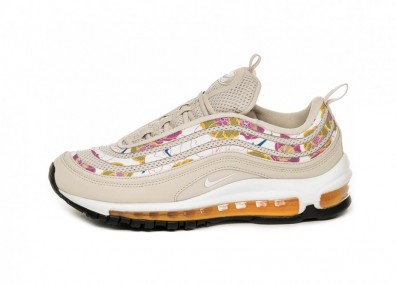 Кроссовки Nike Wmns Air Max 97 SE Floral (Light Orewood Brown / White - Laser Orange - White)