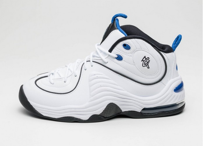 Мужские кроссовки Nike Air Penny II (White / Black - Varsity Royal - Black) | Интернет-магазин Sole