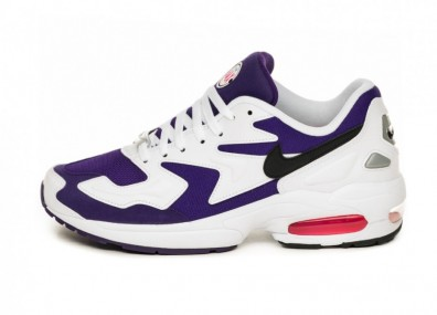 Кроссовки Nike Air Max² Light (White / Black - Court Purple - Hyper Pink)