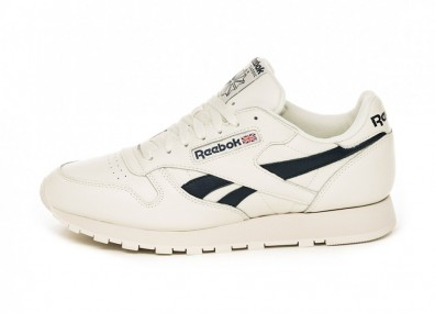 Кроссовки Reebok Classic Leather MU (Chalk / Paperwhite / Collegiate Navy)