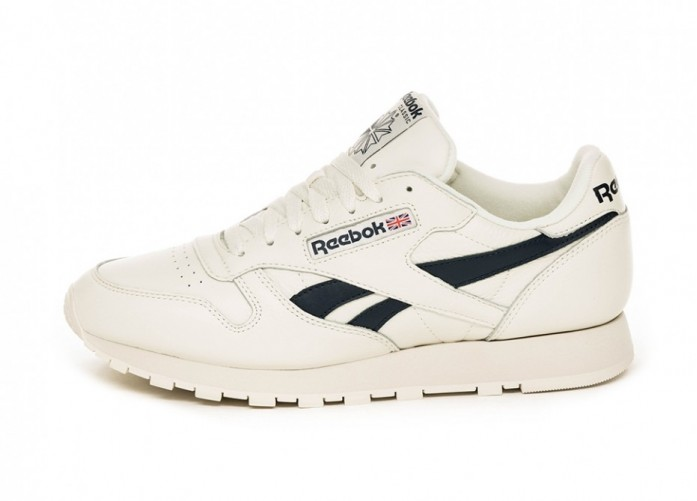 Кроссовки Reebok Classic Leather MU (Chalk / Paperwhite / Collegiate Navy) | Интернет-магазин Sole