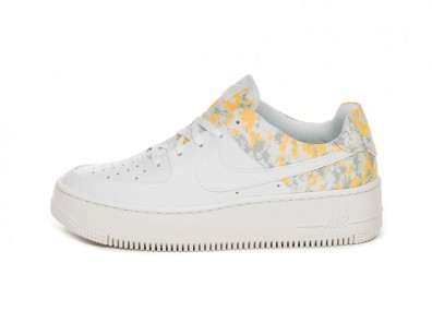Кроссовки Nike Wmns Air Force 1 Sage Low PRM (White / Laser Orange - Wolf Grey - Hyper Pink)