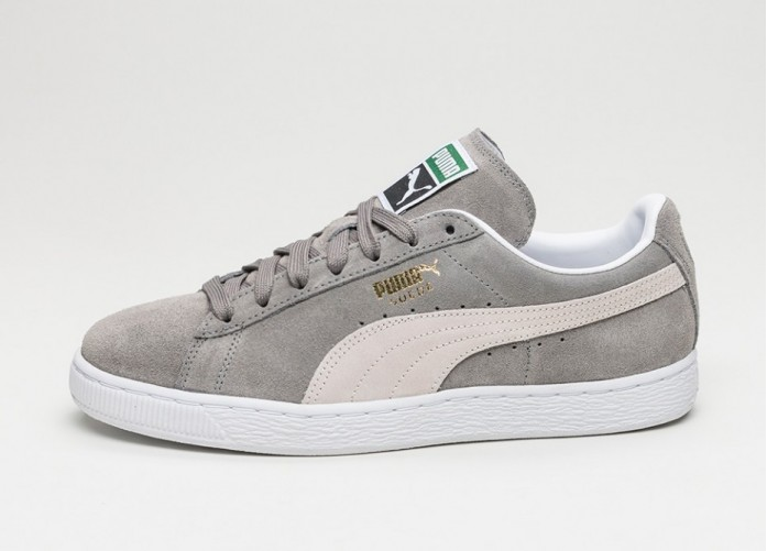 Мужские кроссовки Puma Suede Classic+ (Stepple Gray / White) | Интернет-магазин Sole
