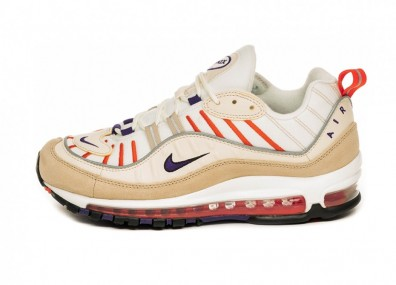 Кроссовки Nike Air Max 98 (Sail / Court Purple - Light Cream - Desert Ore)