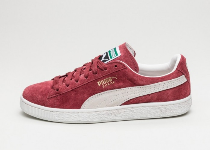 Мужские кроссовки Puma Suede Classic+ (Cabernet / White) | Интернет-магазин Sole