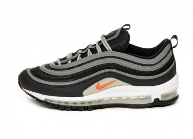 Кроссовки Nike Air Max 97 Essential (Anthracite / Flash Crimson - Wolf Grey - White)