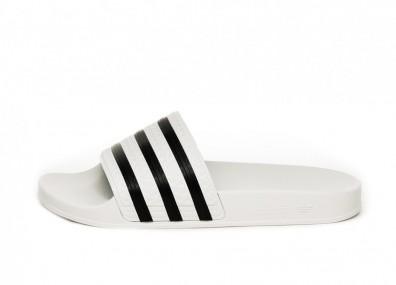 Тапочки adidas Adilette (White / Black / White)