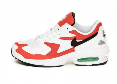 Кроссовки Nike Air Max² Light (White / Black - Habanero Red - Cool Grey)