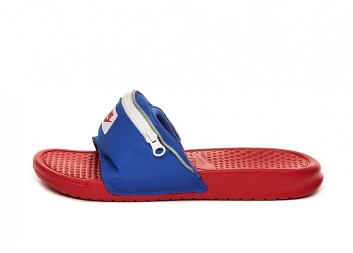 Тапочки Nike Benassi JDI Fanny Pack (Bright Crimson / Bright Crimson)   Интернет-магазин Sole