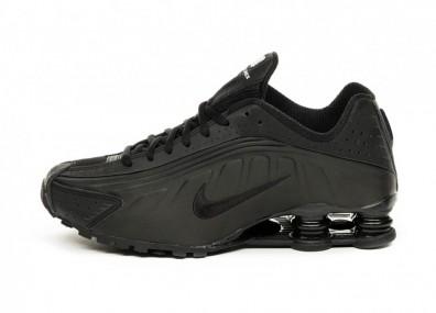 Кроссовки Nike Shox R4 (Black / Black - Black - White)