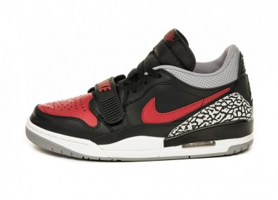 Кроссовки Nike Air Jordan Legacy 312 Low *Bred Cement* (Black / Varsity Red - Black - Cement Grey)